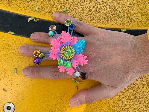 טבעת קולאז' צבעונית