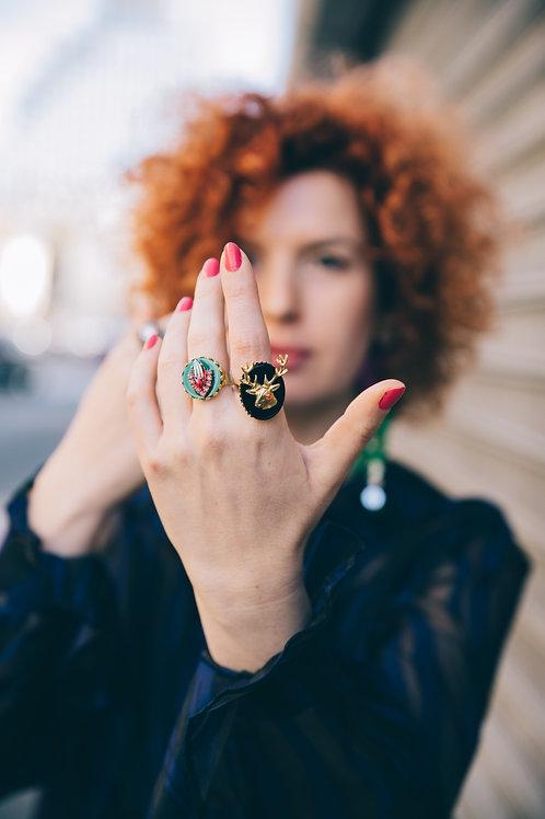 טבעת איל מוזהבת