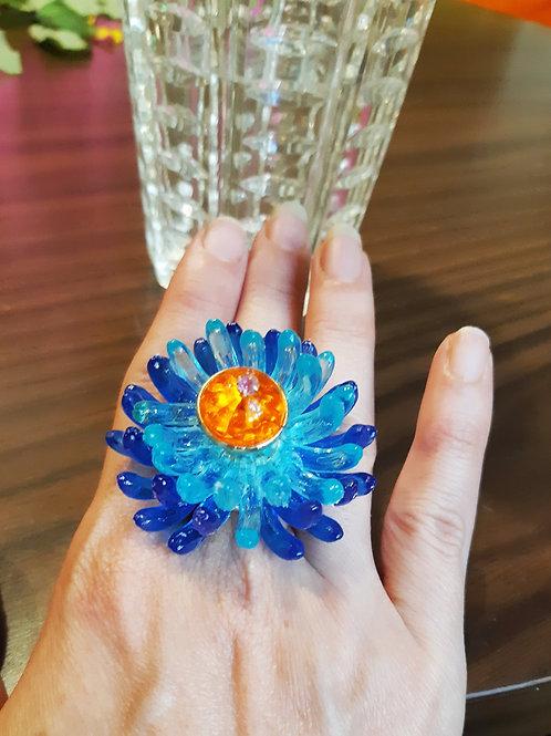 טבעת אלמוג כחולה