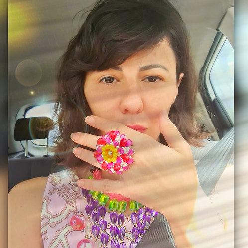 טבעת פרח ורונה