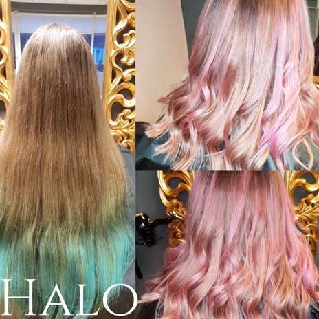 Hair Transformation Pink