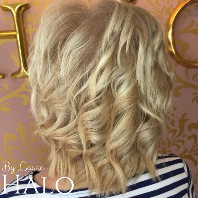 Bouncy Blonde Hair
