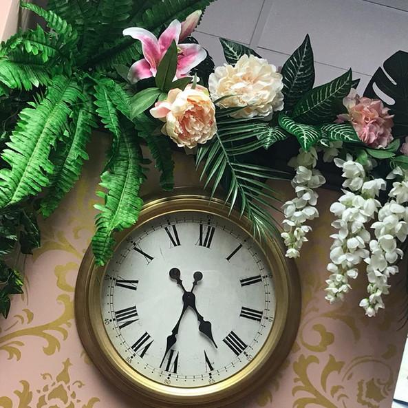 Floral Wall Salon Interior