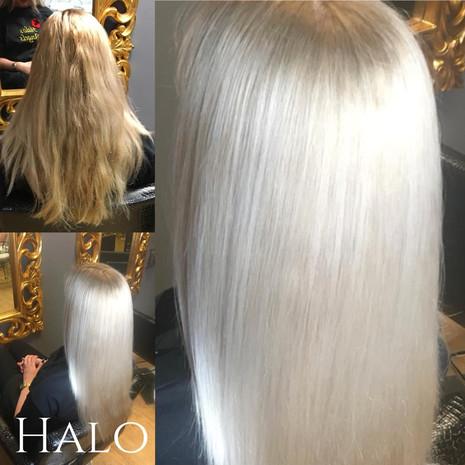 Hair Transformation Platinum Blonde