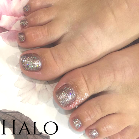 Glitter Gel Pedicure