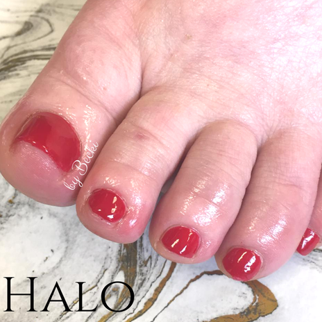 Red Gel Pedicure
