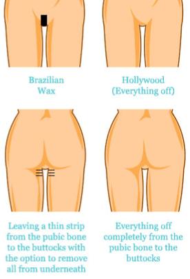 Brazilian and Hollywood Wax