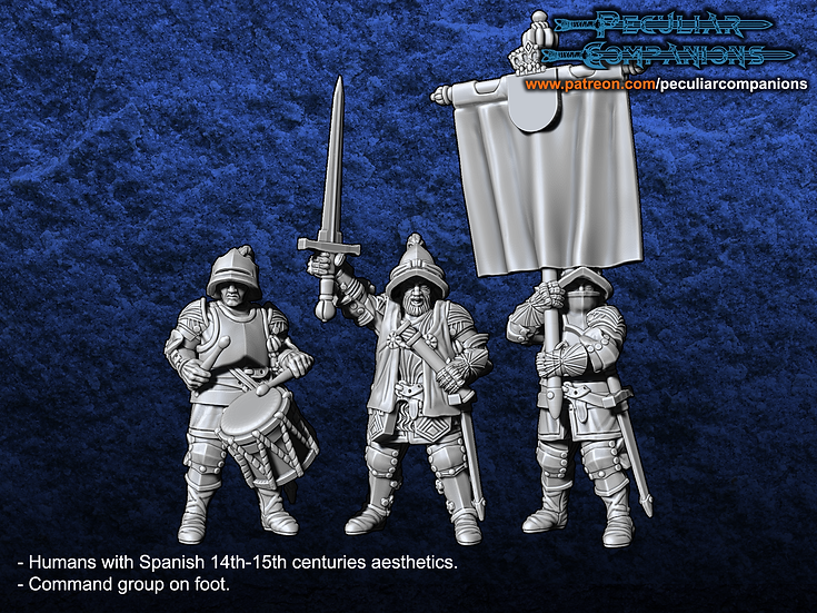Spaniard Humans - Command group on foot