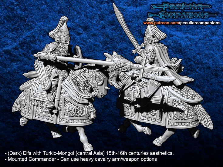 Turko-Mongol Elfs - Mounted Commander