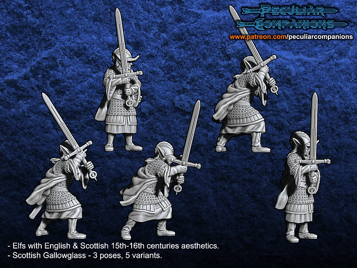 Anglo-Scottish Elfs - Medium Infantry