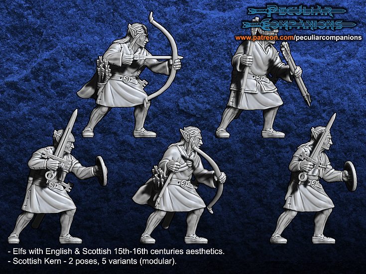 Anglo-Scottish Elfs - Light Infantry