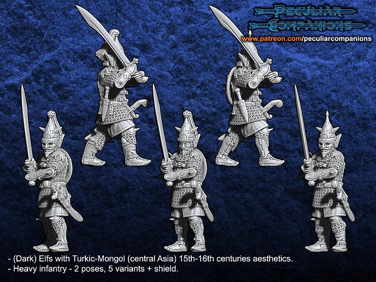 Turko-Mongol Elfs - Heavy Infantry