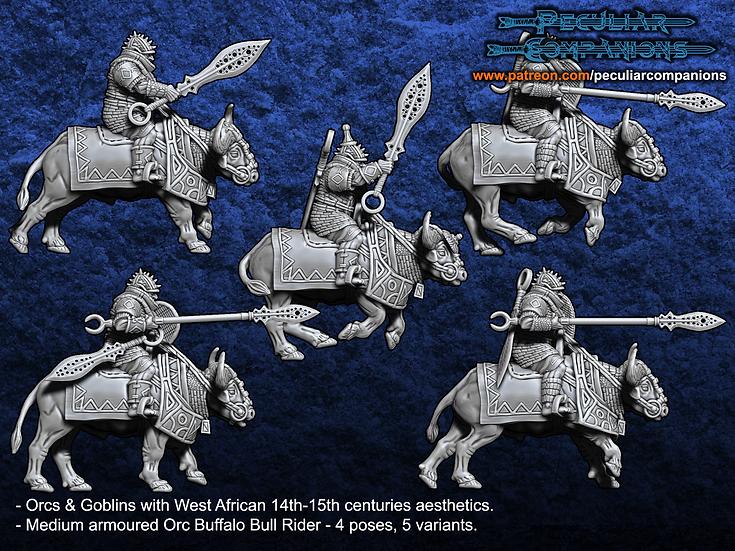 Benin Orcs & Gobs -Orc Bull Riders