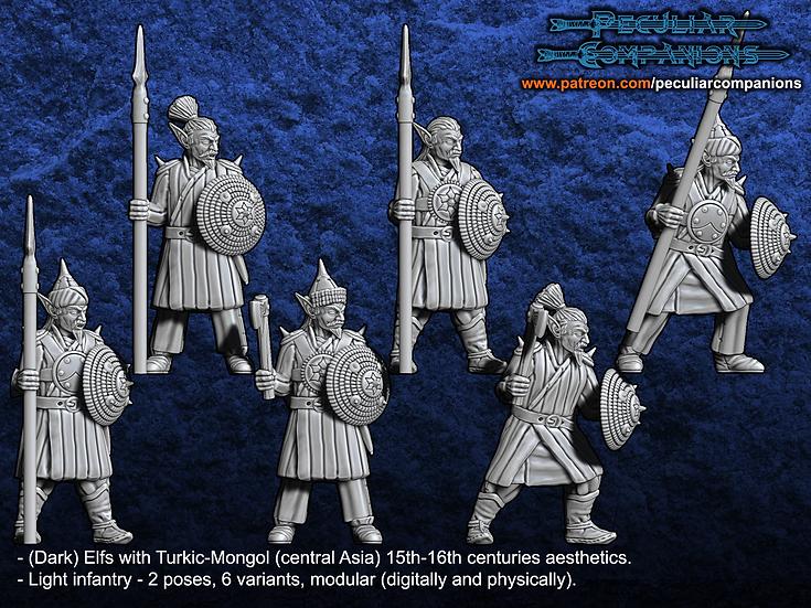 Turko-Mongol Elfs - Light Infantry