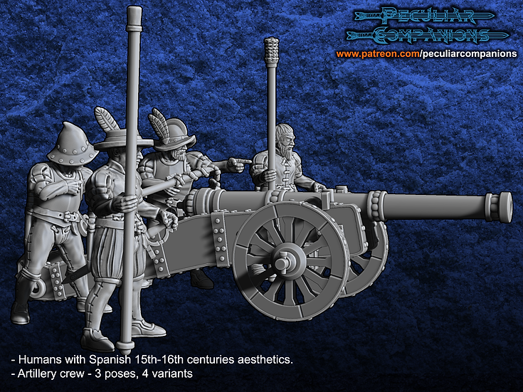 Spaniard Humans - Artillery Crew