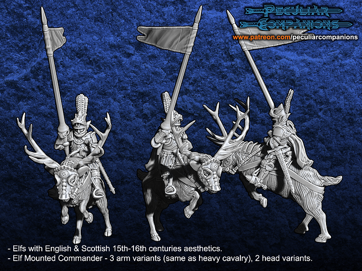 Anglo-Scottish Elfs - Mounted Commander