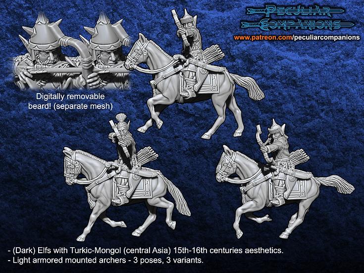 Turko-Mongol Elfs - Light armored Cavalry