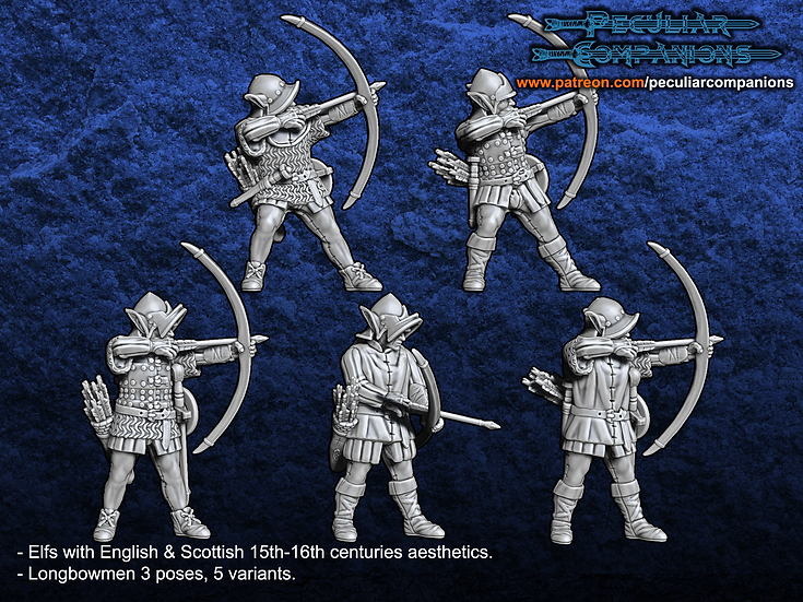 Anglo-Scottish Elfs -Longbowmen