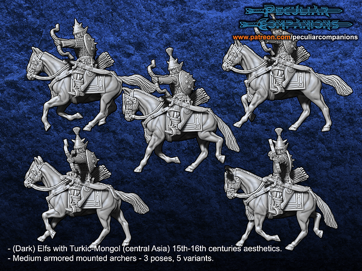 Turko-Mongol Elfs - Medium armored Cavalry