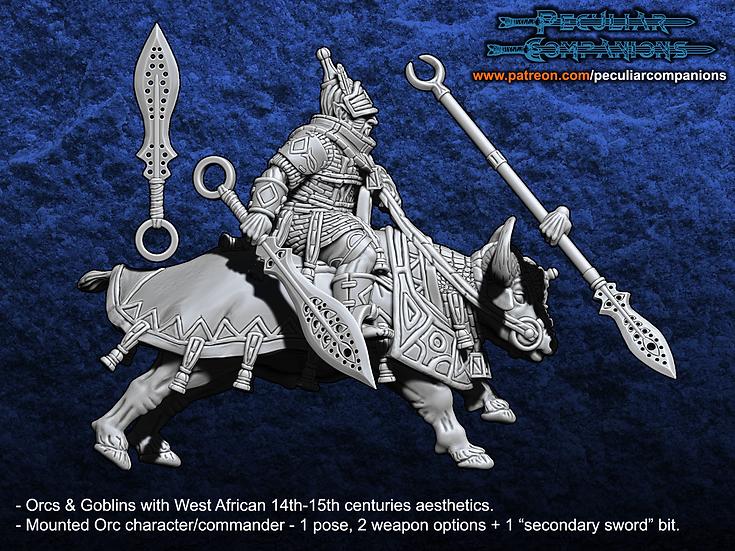 Benin Orcs & Gobs - Orc Mounted Commander