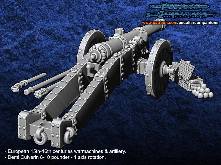 European Artillery - 10 pound Demi Culverin