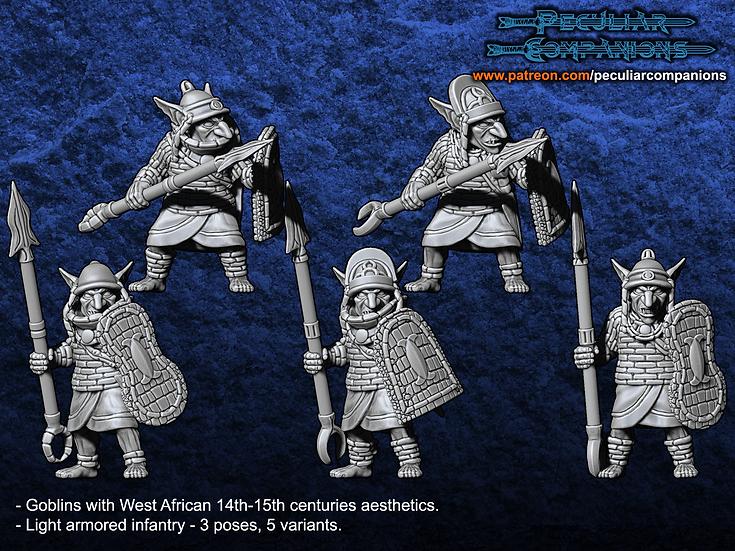 Benin Orcs & Gobs - Goblin Spearmen