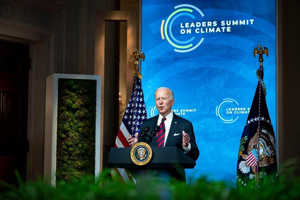 Joe Biden, presidente dos EUA, durante pronunciamento na Cúpula do Clima
