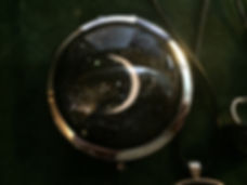 moon in the 8th phase, compact mirror.