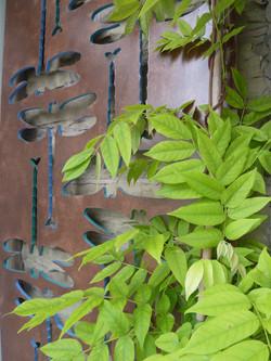 Dragonfly garden trellis