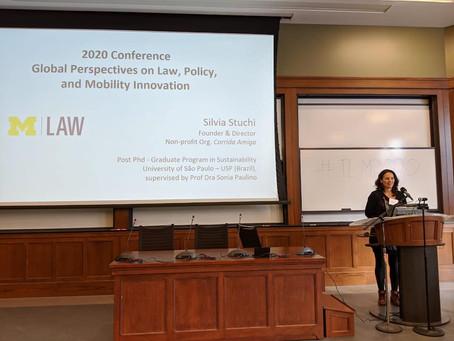 Silvia Stuchi leva Corrida Amiga para a Global Perspective on Law, Policy and Mobility Innovation