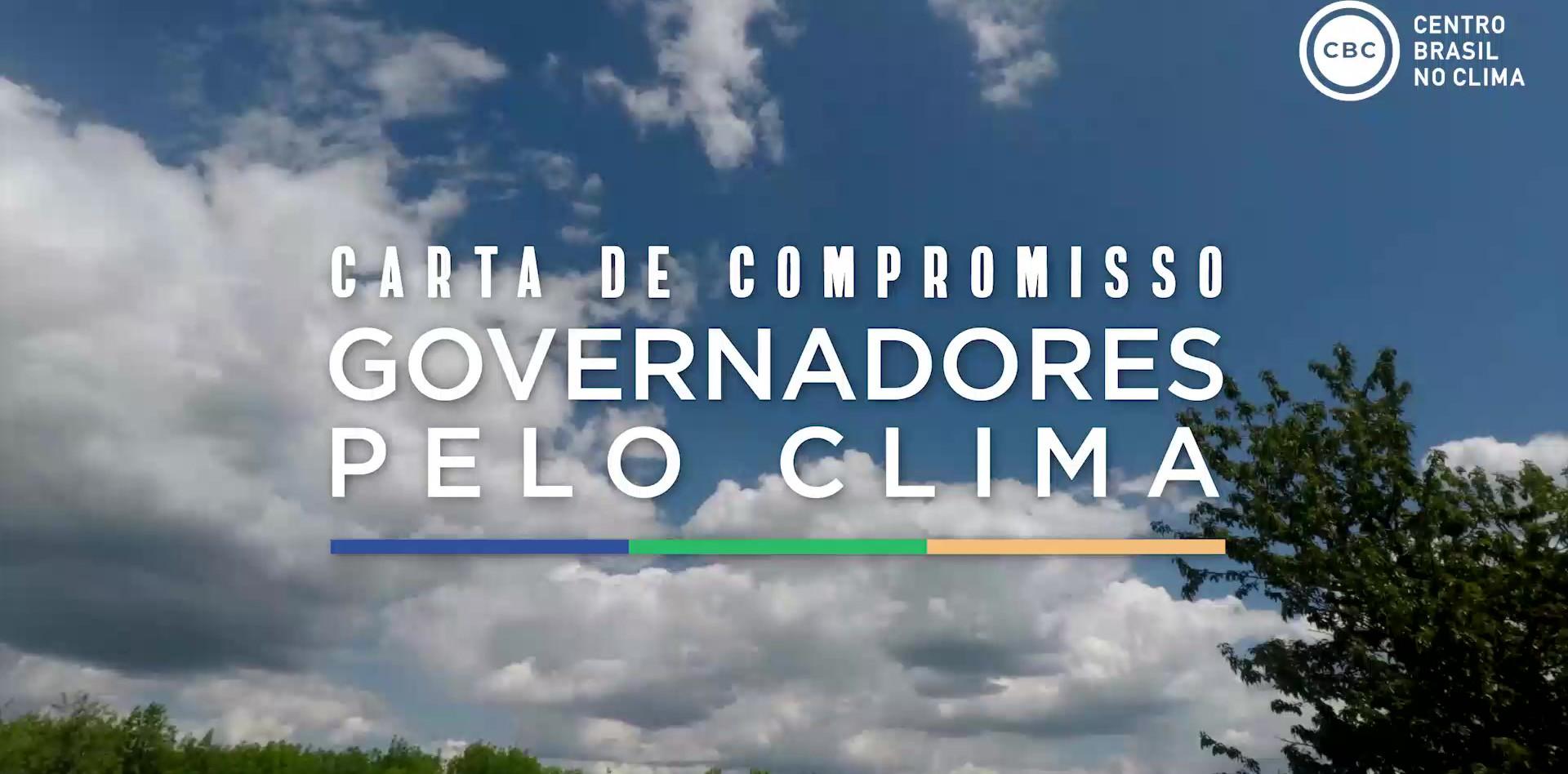 Carta de compromisso Governadores pelo Clima