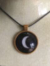Balsamic Moon Pendant, crescent moon, astrology necklace, moon, alchemy, mystic jewellery, good luck charm, zodiac, astrology necklace, out of bounds moon, cancer sign,