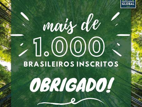 Brasil tem mais de 1.000 inscritos no Treinamento Global
