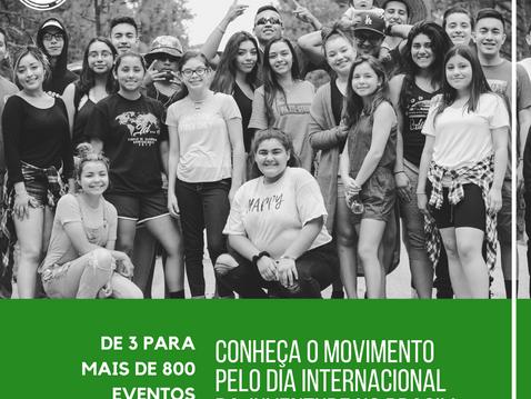 De 3 para mais de 800 eventos em 2 anos: conheça o Movimento pelo Dia Internacional da Juventude no