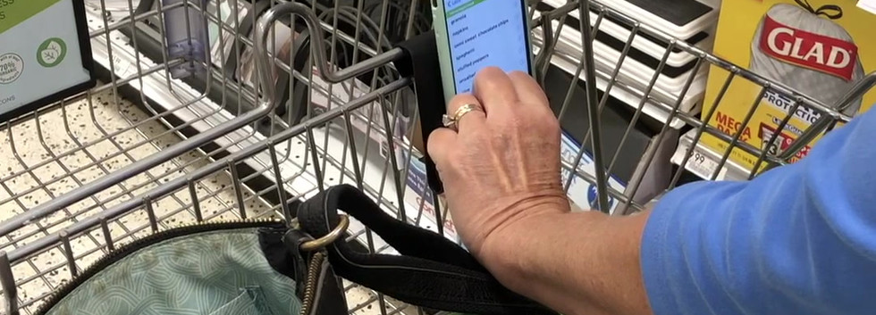 Cell Phone Holder for Shopping-Cart Phone Caddy