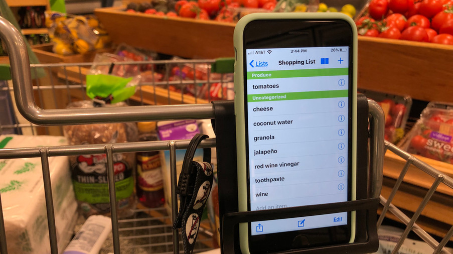 Cell Phone Holder for Shopping Cart-Cart Phone Caddy