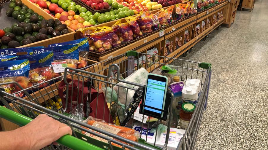 Shopping Cart Cell Phone Holder-Cart Phone Caddy