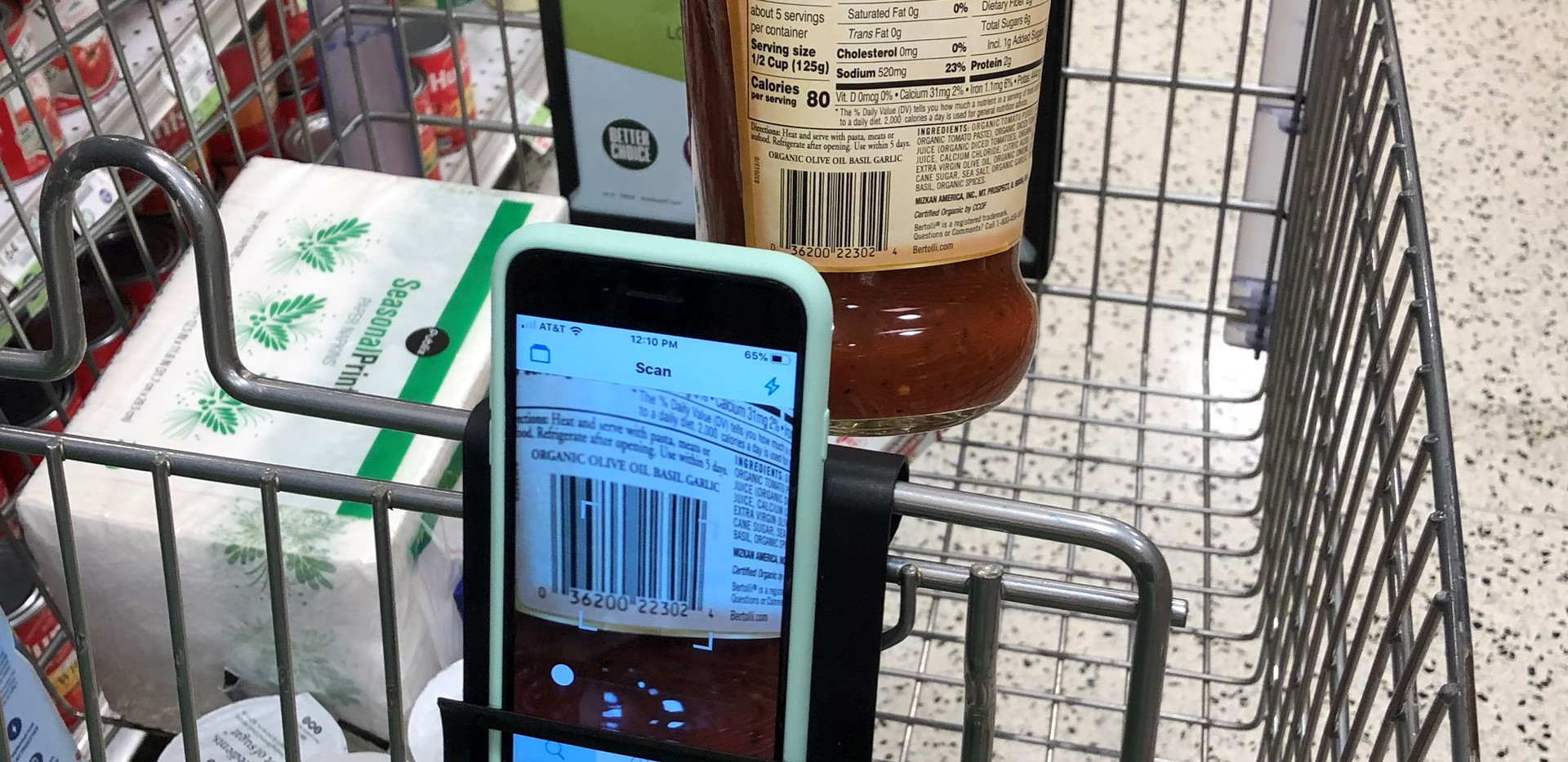 Cell Phone Holder for Shopping Cart - Cart Phone Caddy