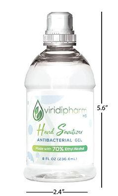 8oz Viridipharm Hand Sanitizer sizefinal