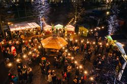 Der Weihnachtsmarkt von oben