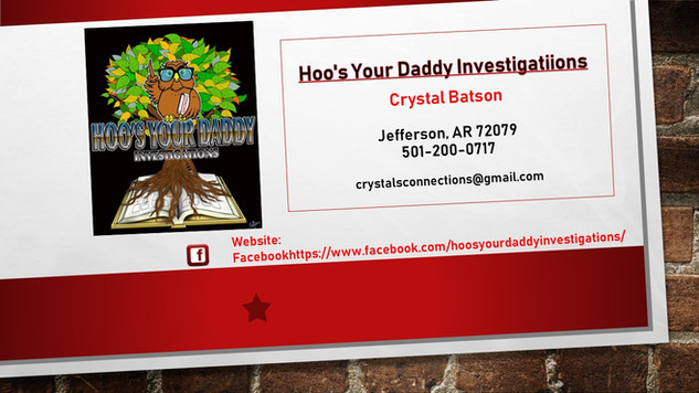 Hoo's Your Daddy Investigations