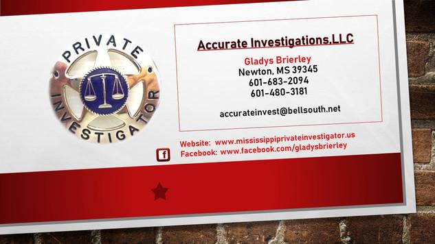 Accurate Investigations,LLC