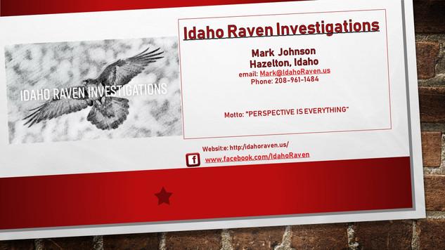 Idaho Raven Investigations