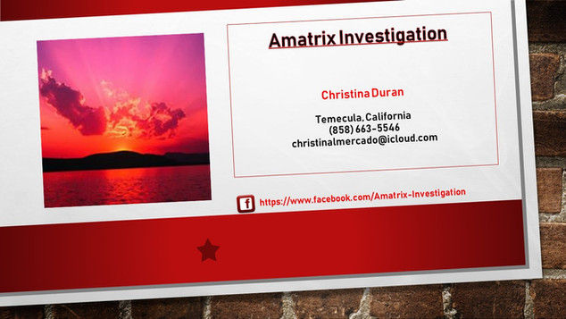 Amatrix Investigation