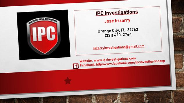IPC Investigations
