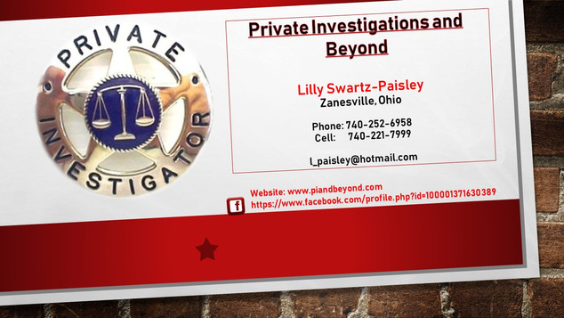 Private Investigations and Beyond