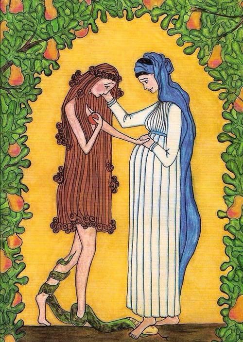 Virgin Mary Consoles Eve, Sister Grace Remington