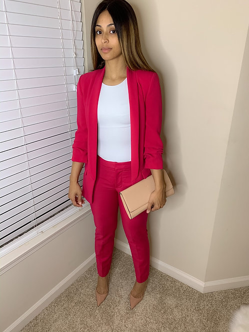 Zara pink pantsuit set