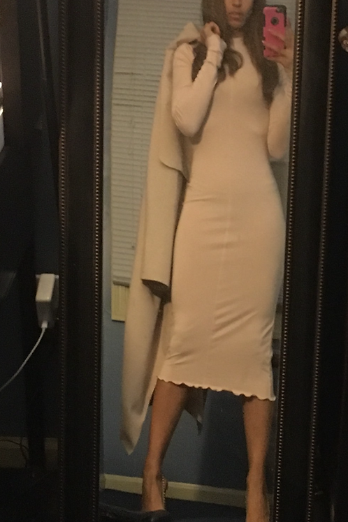 Soft pink fitted dress
