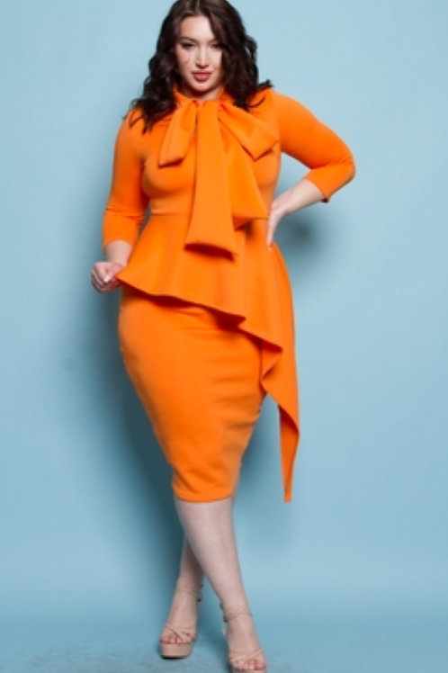 Orange Bowtie dress